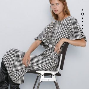 Zara houndstooth dress Bloggers favorite S